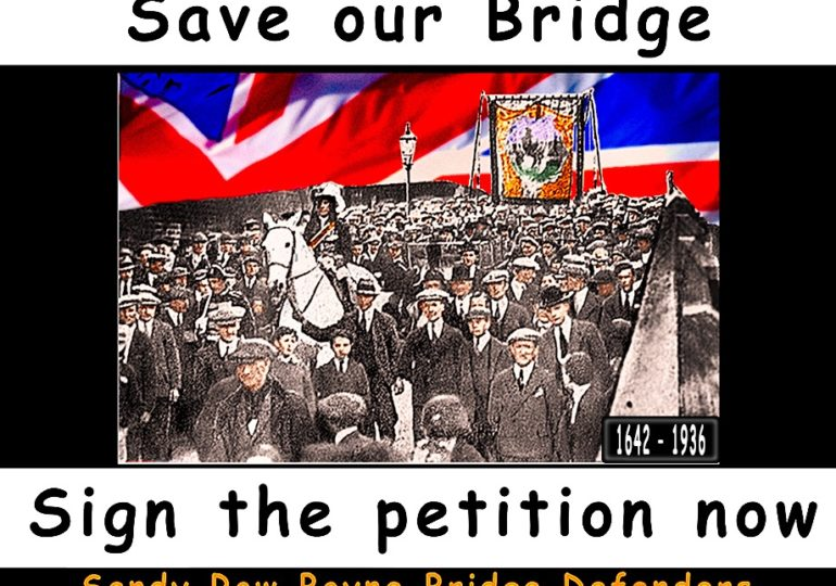 SAVE THE BOYNE BRIDGE SANDY ROW BELFAST